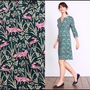 Boden Alexandra Emerald Night Field Fox Dress